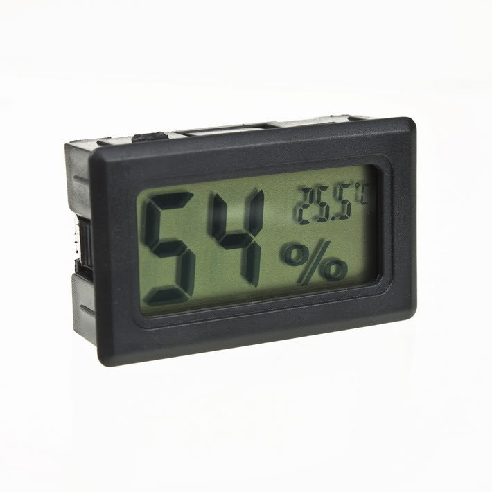 Гигрометр-термометр WSD-12-1 цифровой встраиваемый влагомер градусник