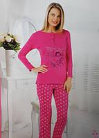 Байковая женская пижама №152