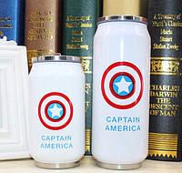 Супергеройский термос 350 мл  капитан Америка
