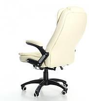 Компьютерное кожаное кресло Veroni бежевое, фото 3