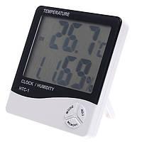 Гигрометр Термометр Влагомер Часы Будильник Календарь HTC-1, фото 1