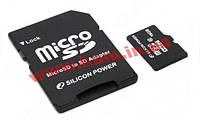 Memory ( flash cards ) SILICON POWER NAND Flash Micro SDHC 16ГБ Class 10 (SP016GBSTH010V10)