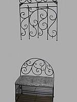 Кованый набор мебели в прихожую  -  08