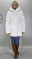 Женская искусственная шуба белая норка М-201 42-52 размеры