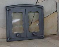 Дверка для хлебной печи со стеклом (44х38 см/38,5х30,5 см)