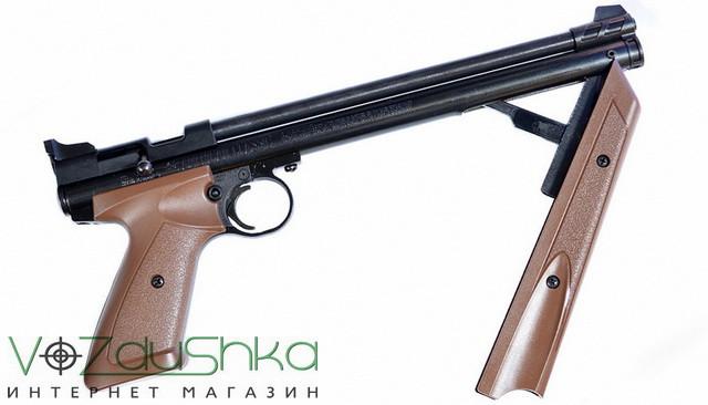пневматический пистолет crosman P1377BR при накачке