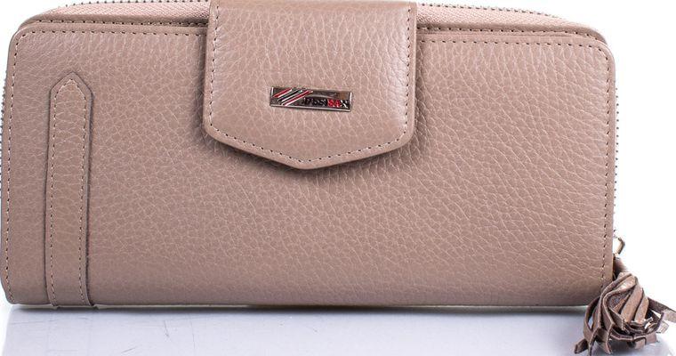 Жіночий шкіряний гаманець Desisan Shi731-283 бежевий