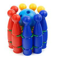 Кегли с шарами и держателем. Детский боулинг набор для игры