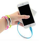 Кабель-браслет USB-lightning для iphone або ipad СІРИЙ SKU0000372, фото 4