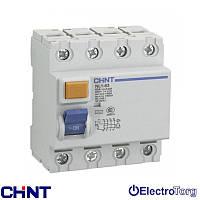 УЗО электромеханическое ВДТ NL1-63 6kA 4P  25A - 30mA, 100mA, 300mA Chint