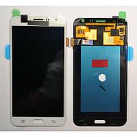 Дисплей Samsung J700 Galaxy J7 с сенсором Белый White оригинал , GH97-17670A