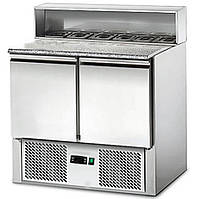 Стол холодильный для пиццы 0,90 m x 0,70 m 2 дверцами  SAS97G