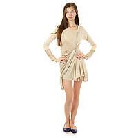 Платье женское сетка размер 36, 38, 40 Vogue PG-R0015-BEG