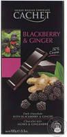 Шоколад Cachet (Кашет) черный 57% какао с ежевикой и имбирем Бельгия 100г