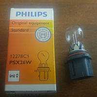 PSX26W  автолампа галогеновая PHILIPS PSX26W 12V 26W PG18.5D-3 / HIPERVISION