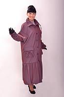 Плащ пальто длинный интернет магазин женской одежды ПО 001, на полную грудь