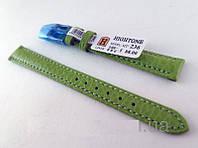 Ремешок Hightone, кожаный, анти-аллергенный, зеленый, фото 1