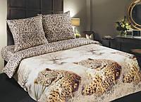 Комплект постельного белья , Леопарды поплин .