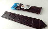 Ремешок Hightone, кожаный, анти-аллергенный, темно коричневый, фото 1