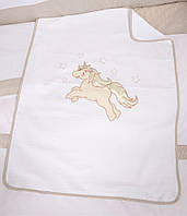 Детский плед ВЕРЕС Unicorn бежевый 350.19