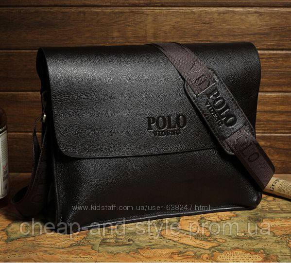 Мужская стильная кожаная сумка POLO под формат А4. Сумка-планшетка - сумка  через плечо 9dab8a9a820