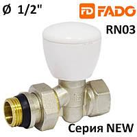 Кран радиаторный  FADO NEW 1/2'' прямой верхний
