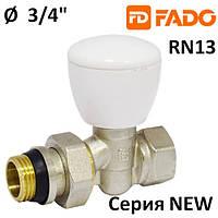 Кран радиаторный  FADO NEW 3/4'' прямой верхний