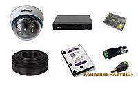 Комплект AHD видеонаблюдения из одной камеры 2 мегапикселя