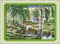 Дикие гуси Набор для вышивки крестом с печатью на ткани 14ст