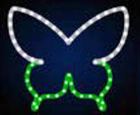 """Мотив светодиодный универсальный """"Бабочка"""", 0.4х0.47 м, 11 Вт, сине-зеленая"""
