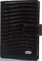 Стильная мужская обложка для водительских прав из натуральной кожи под крокодил DESISAN SHI101-143-2LZ черный