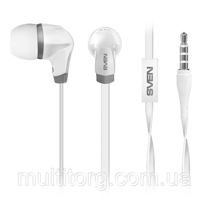 Наушники SVEN SEB-260M белые с микрофоном гарнитура 4pin для смартфона