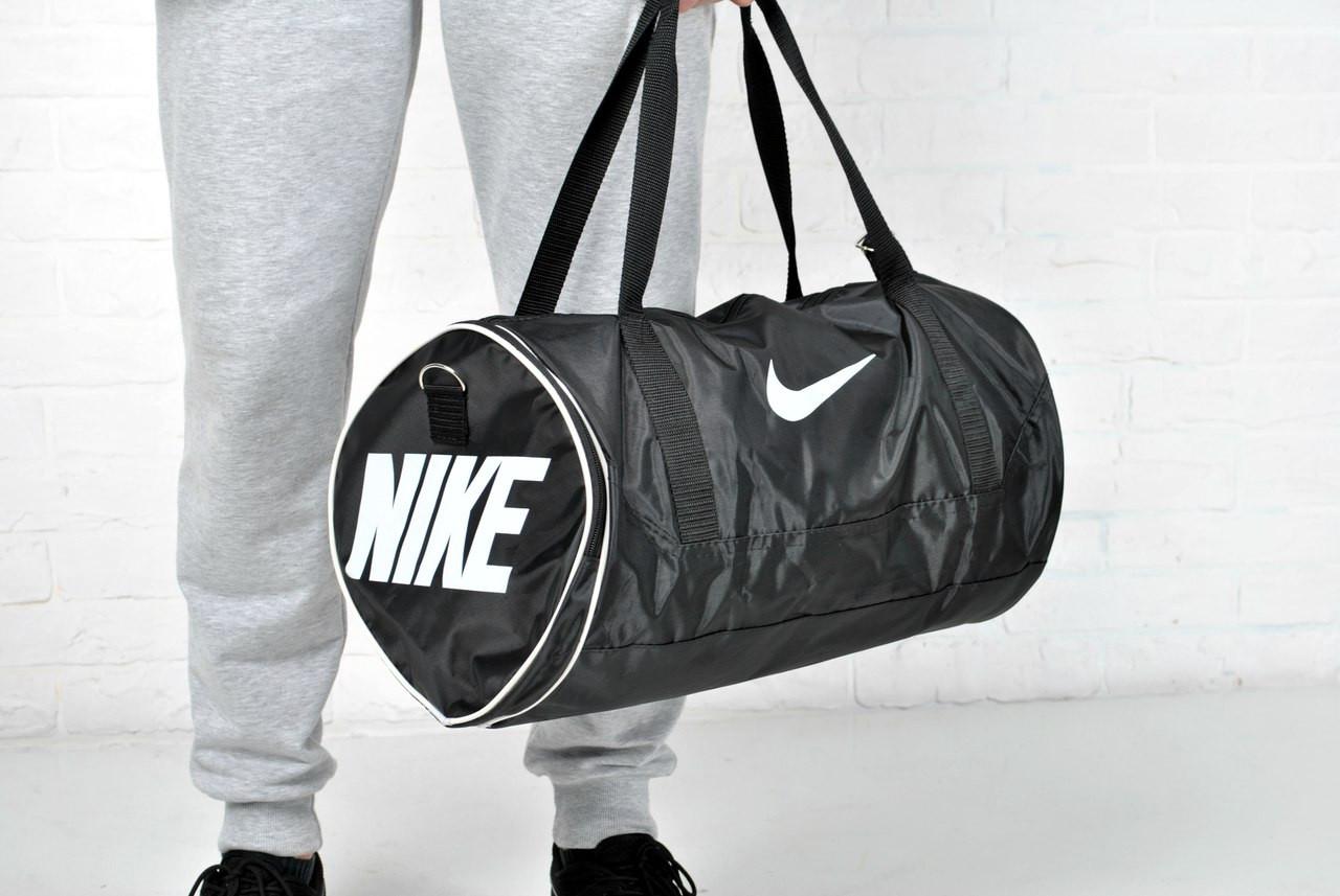 513f3806 Спортивная сумка мужская найк (Nike), круглая, черная реплика, цена 240  грн., купить в Киеве — Prom.ua (ID#404118407)