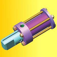 Гидроцилиндр ГЦ 50.32.50.295Ф фиксатора автогрейдера ДЗ-122