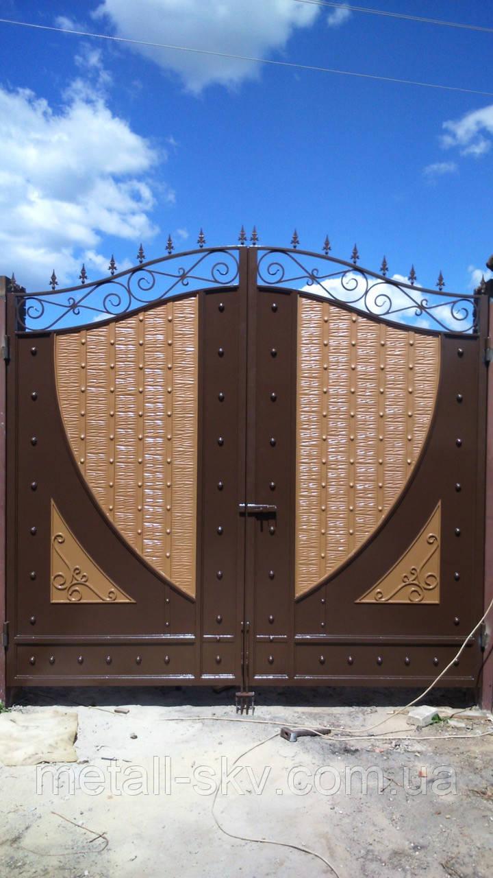 Ворота жаті металеві Руно
