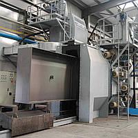 Дробеметная установка для очистки сварных металлоконструкций