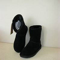Угги женские It is натуральная замша черные KF0088
