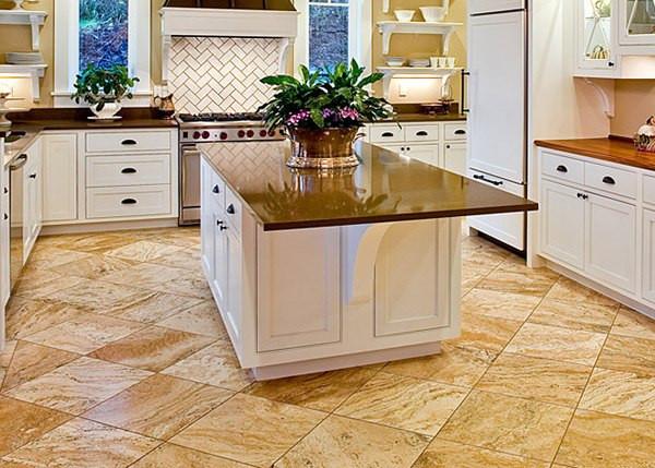 Выбираем лучшее напольное покрытие в кухню