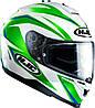 Шлем HJC IS17 Osiris MC4 бело-зеленый, L