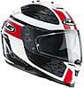 Шлем HJC IS17 Paru MC1 бело-красно-черный, L