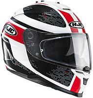 Шлем HJC IS17 Paru MC1 бело-красно-черный, L, фото 1