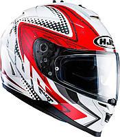 Шлем HJC IS17 Tasman MC1 красно-белый, L