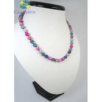 Ожерелье из морозного агата
