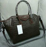 Сумка Givenchy под рептилию коричневая
