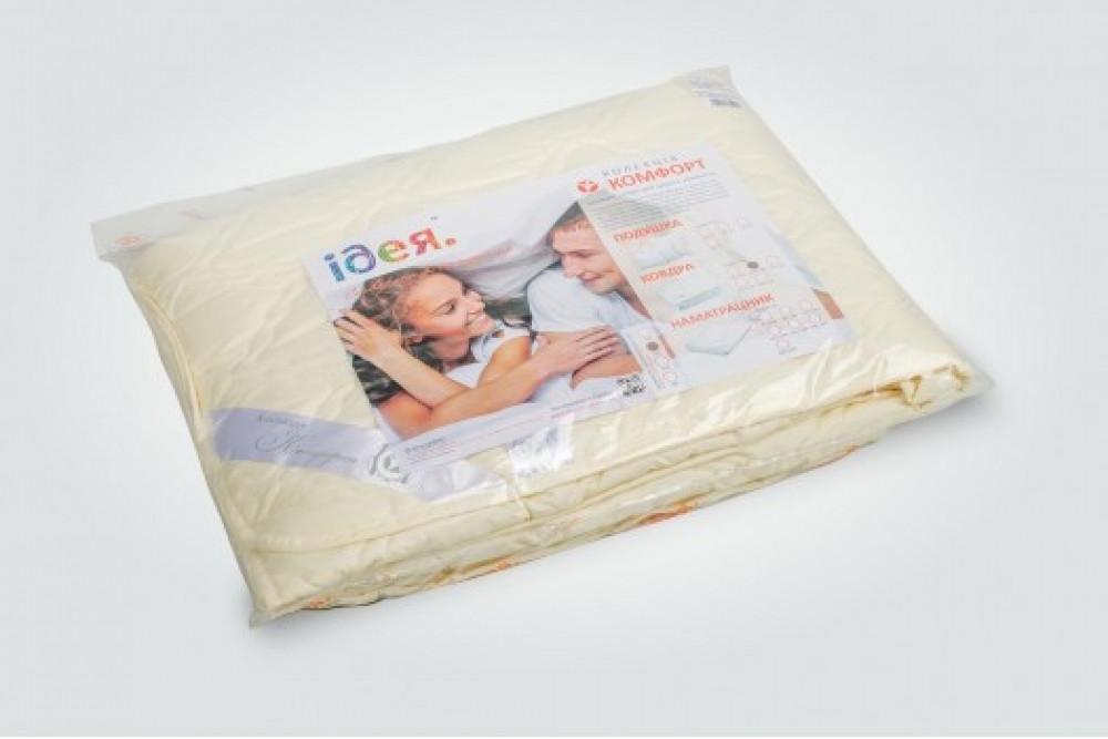 Одеяло Летнее двуспальное Евро  200 х 220 Comfort Standart 150г/м, тм Идея