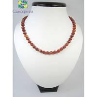 Ожерелье из коричневого агата