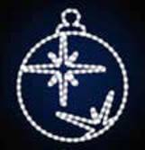 """Мотив светодиодный новогодний """"Шар новогодний Звезда"""", 0.6х0.68м, 18 Вт"""