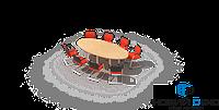 Стол для переговоров овал 250х75х110 RDС-2510