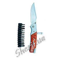 Нож  складной с набором отверток Grand Way 383