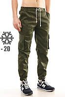 Утепленные штаны карго Ястребь, олива
